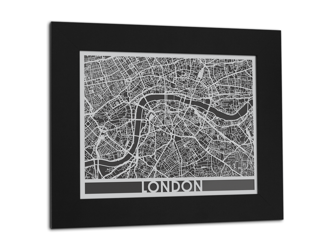 London | Stainless Steel Map | 11