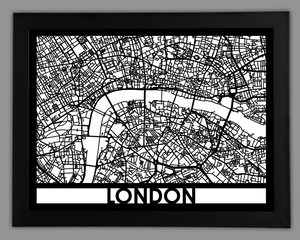 London - Cool Cut Map Gift