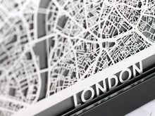 "Load image into Gallery viewer, London - Stainless Steel Map - 5""x7"""