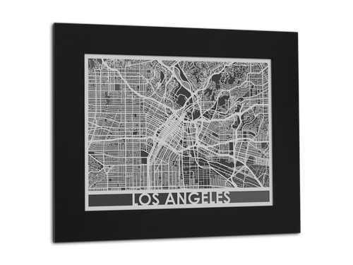 Los Angeles - Stainless Steel Map - 11