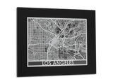 "Los Angeles - Stainless Steel Map - 11"" x 14"" - Cool Cut Map Gift"