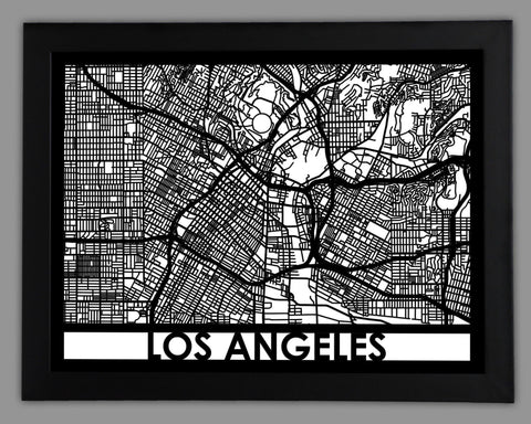Los Angeles - Cool Cut Map Gift