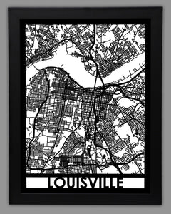 Louisville - Cool Cut Map Gift