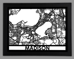 Madison - Cool Cut Map Gift