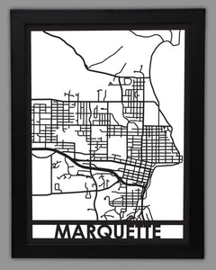 Marquette - Cool Cut Map Gift