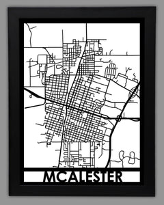 McAlester - Cool Cut Map Gift