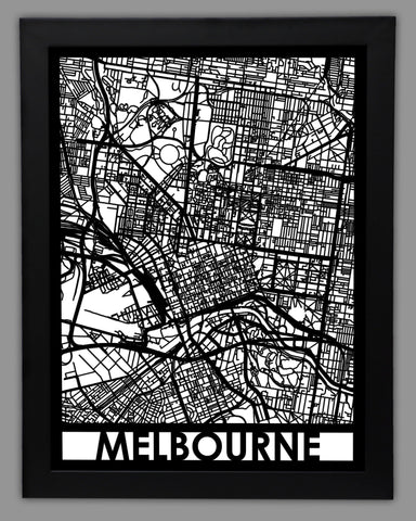 Melbourne - Cool Cut Map Gift
