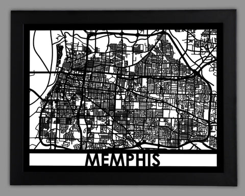 Memphis - Cool Cut Map Gift