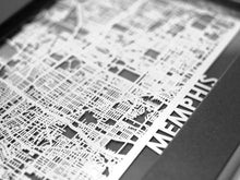"Load image into Gallery viewer, Memphis - Stainless Steel Map - 5""x7"""