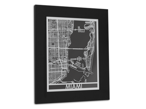 Miami - Stainless Steel Map - 11