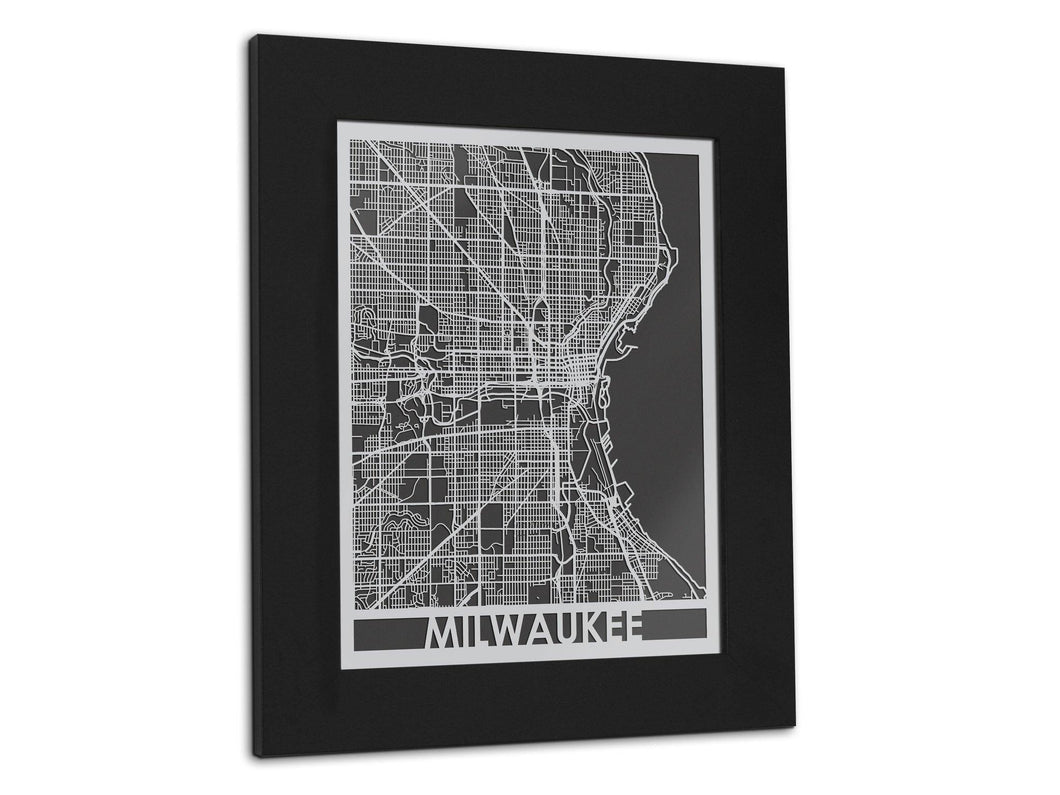 Milwaukee - Stainless Steel Map - 11