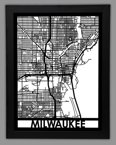 Milwaukee - Cool Cut Map Gift