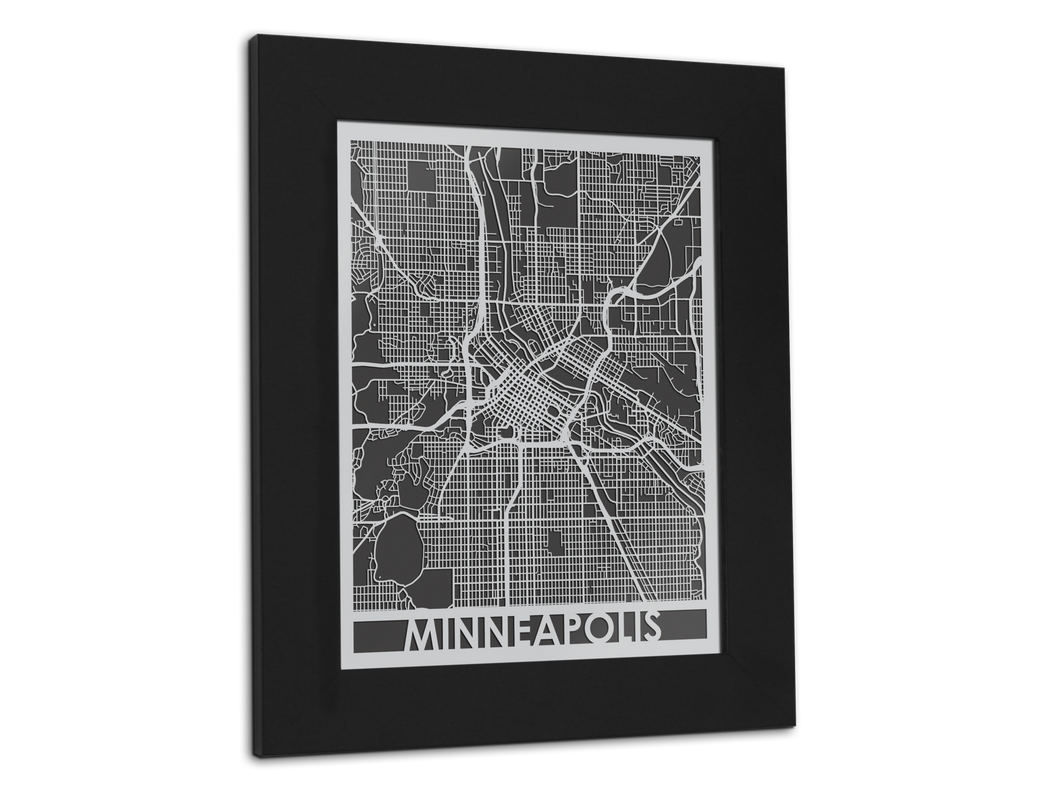 Minneapolis - Stainless Steel Map - 11