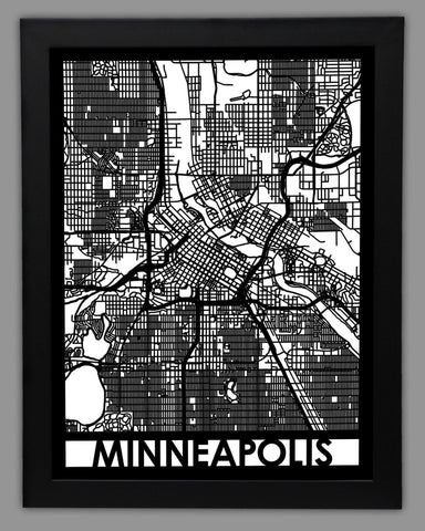 Minneapolis - Cool Cut Map Gift