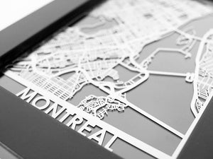 "Montreal - Stainless Steel Map - 5""x7"" - Brad's Deals"