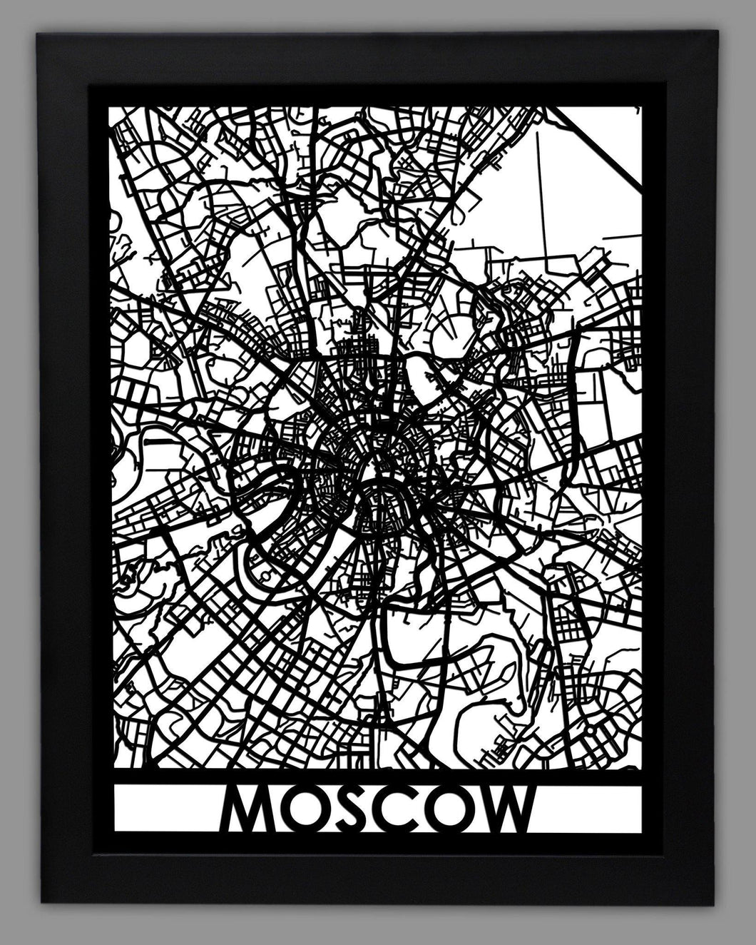 Moscow - Cool Cut Map Gift
