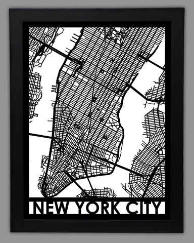 New York City - Cool Cut Map Gift