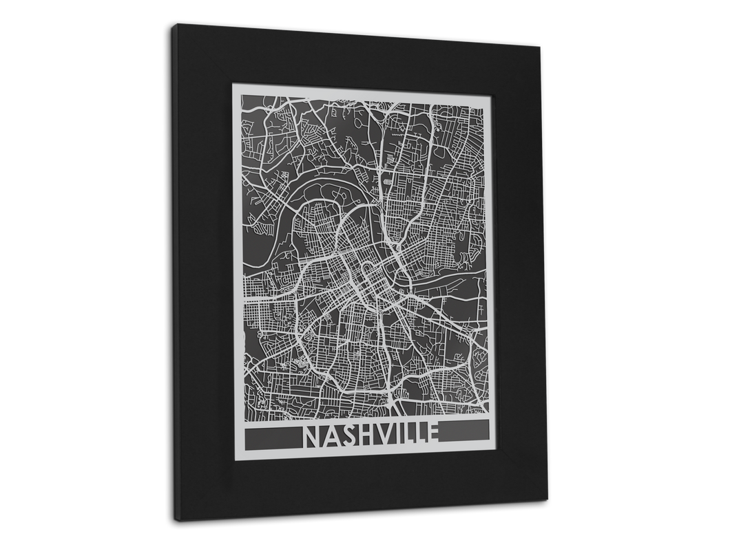 Nashville | Stainless Steel Map | 11