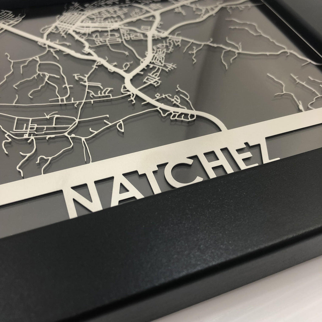 Natchez, MS - Stainless Steel Map - 5