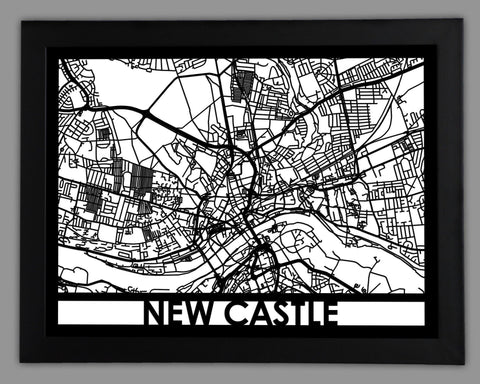New Castle - Cool Cut Map Gift