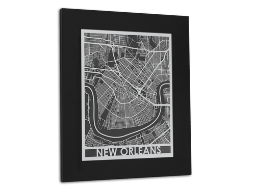 New Orleans - Stainless Steel Map - 11