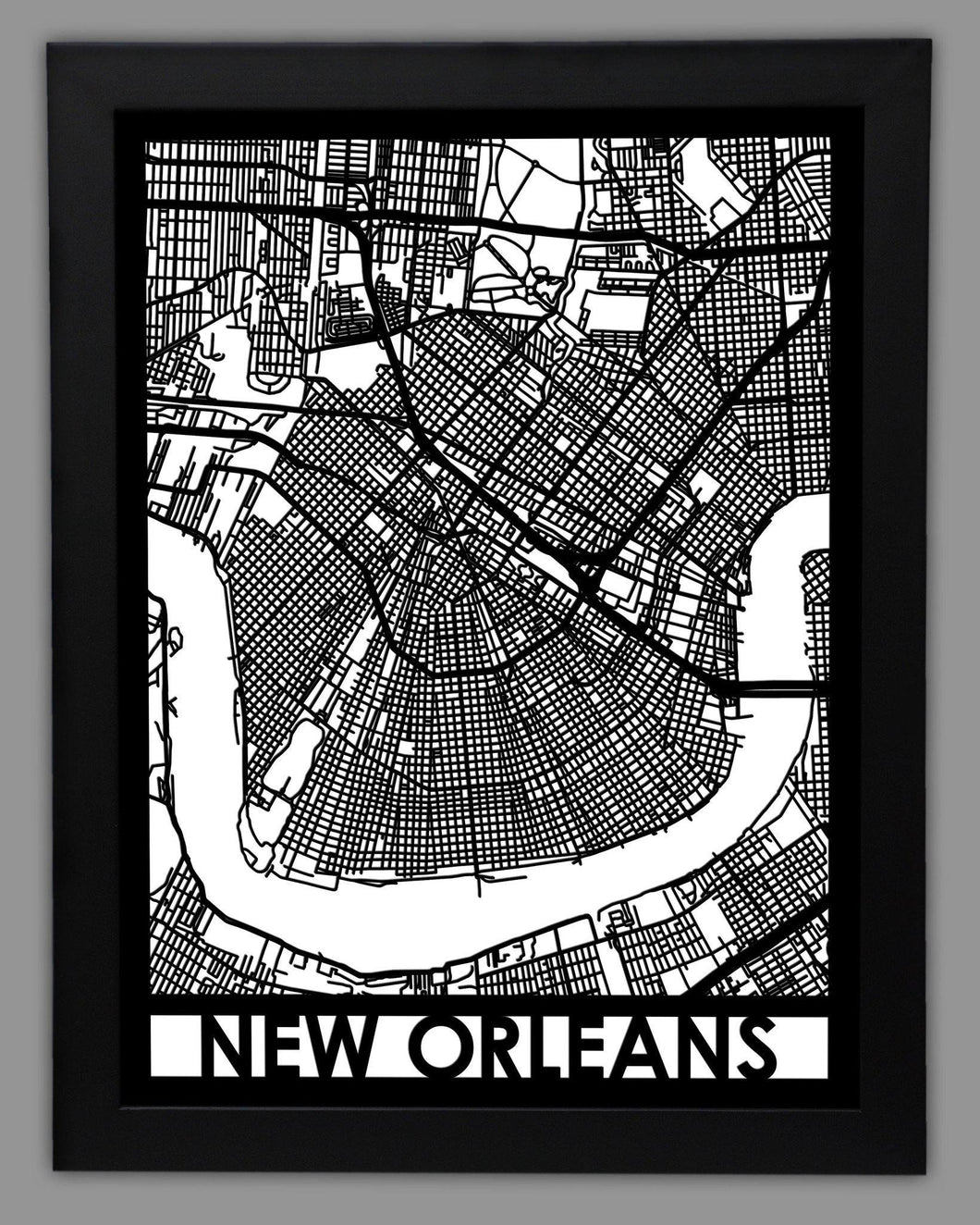 New Orleans - Cool Cut Map Gift