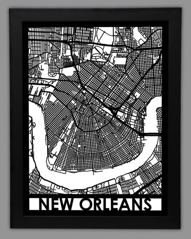 New Orleans - Cut Maps