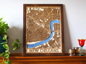 "18""x24"" New Orleans 3 Layer Map"