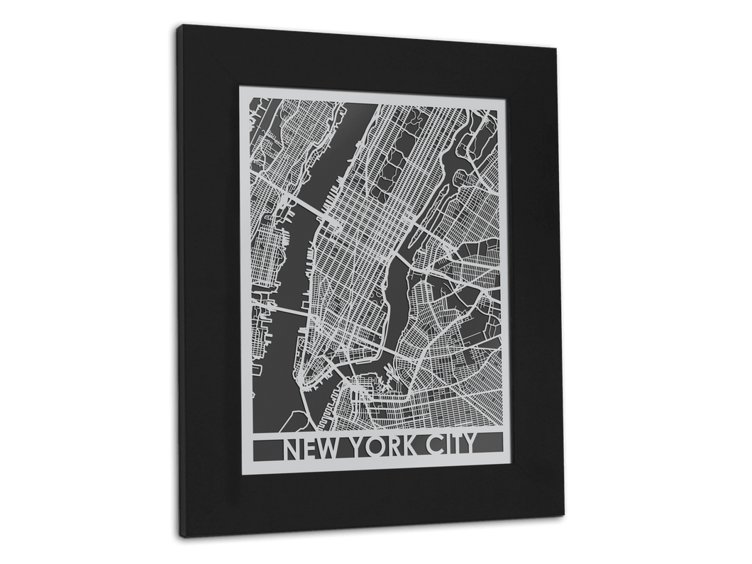 New York City | Stainless Steel Map | 11