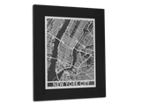 "New York City | Stainless Steel Map | 11"" x 14"" - Cut Maps - 1"