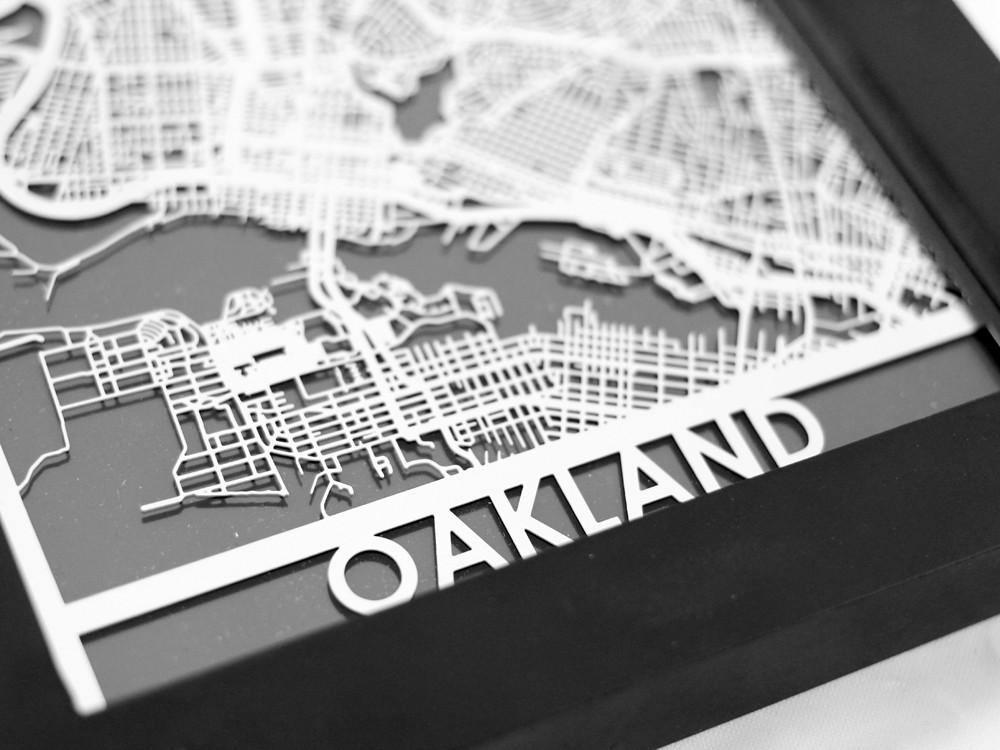 Oakland - Stainless Steel Map - 5
