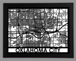 Oklahoma City - Cool Cut Map Gift