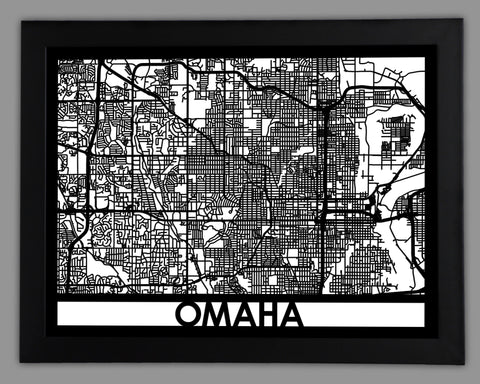Omaha - Cool Cut Map Gift