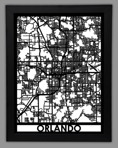 Orlando - Cool Cut Map Gift