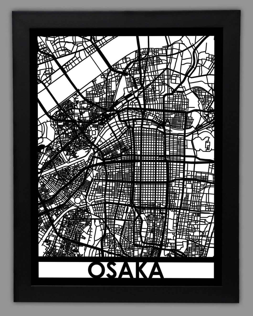 Osaka - Cool Cut Map Gift