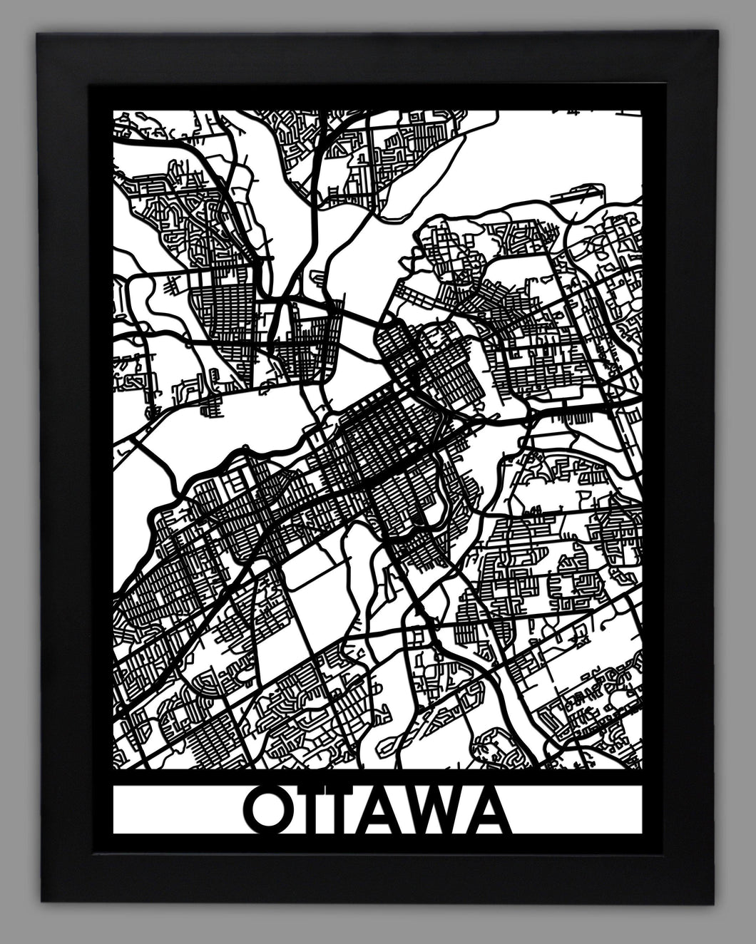 Ottawa - Cool Cut Map Gift