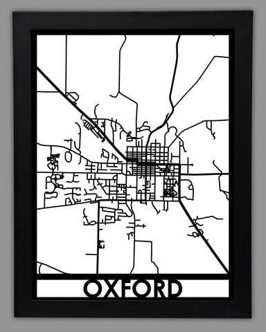 Oxford, OH - Cool Cut Map Gift