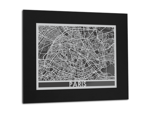 Paris - Stainless Steel Map - 11