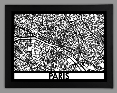Paris - Cool Cut Map Gift