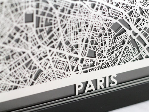Paris - Stainless Steel Map - 5