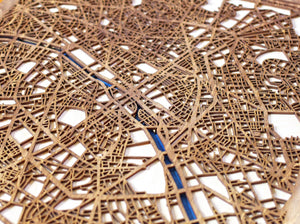 "18""x24"" Paris 3 Layer Map"