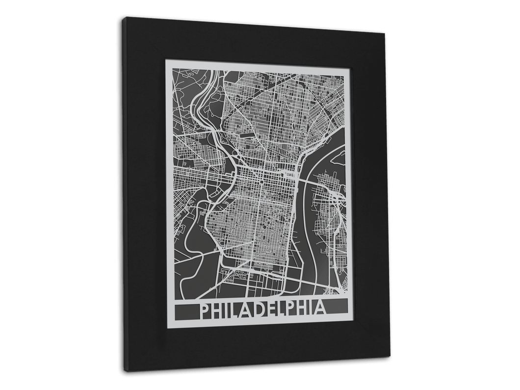 Philadelphia - Stainless Steel Map - 11