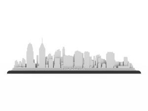 Philadelphia Stainless Steel Skyline - Cool Cut Map Gift