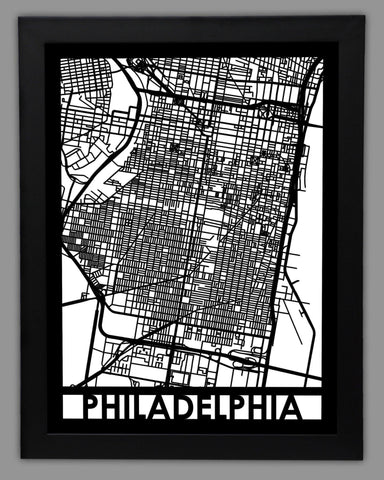 Philadelphia - Cool Cut Map Gift