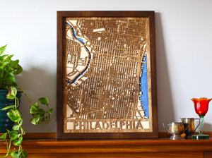"18""x24"" Philadelphia 3 Layer Map"