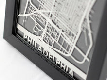 "Load image into Gallery viewer, Philadelphia - Stainless Steel Map - 5""x7"""
