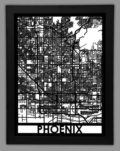 Phoenix - Cool Cut Map Gift