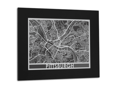 Pittsburgh - Stainless Steel Map - 11