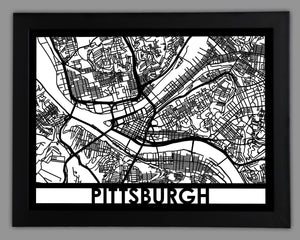Pittsburgh - Cool Cut Map Gift