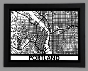 Portland - Cool Cut Map Gift